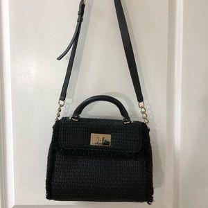 Black tweed Kate Spade New York satchel